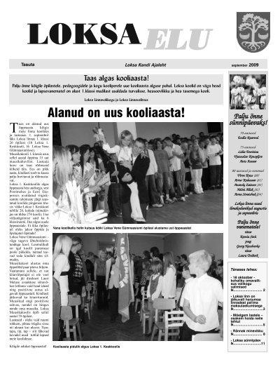 Ilmunud on Loksa Elu oktoobri ajaleht