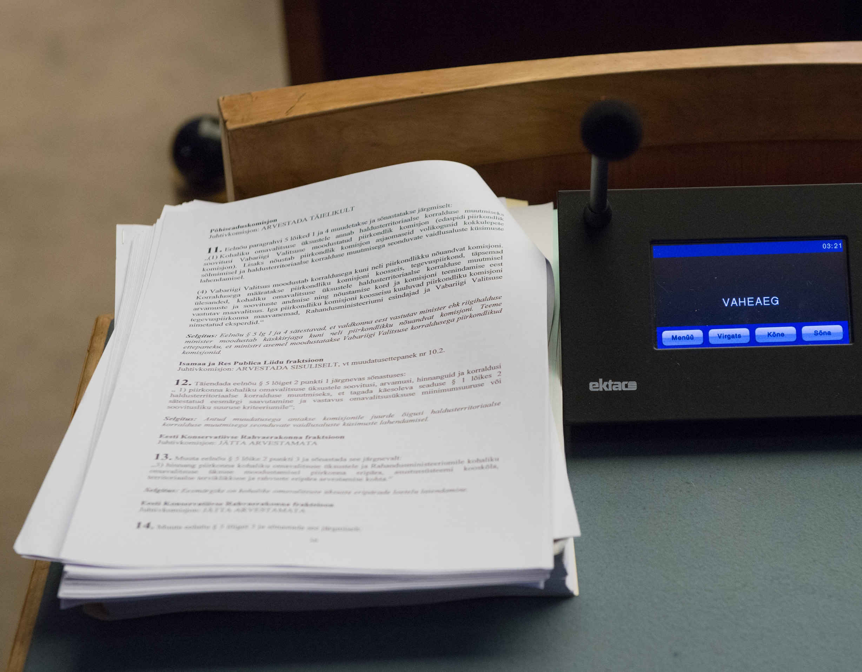 Menetlusse võeti eelnõu täitemenetluse seadustiku muutmiseks